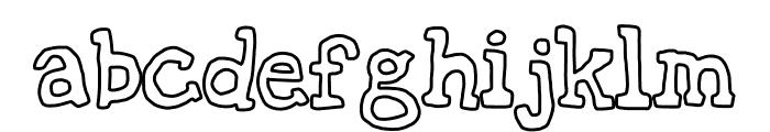 oldies cartoon Font LOWERCASE