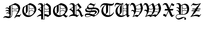 Old English Let Font UPPERCASE