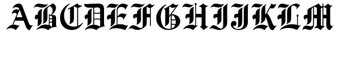 Old English Regular Font UPPERCASE