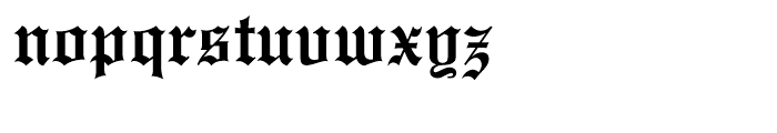 Old English Regular Font LOWERCASE