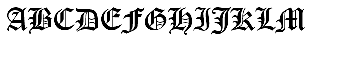 Old English Standard D Font UPPERCASE