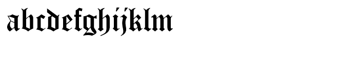 Old English Standard D Font LOWERCASE