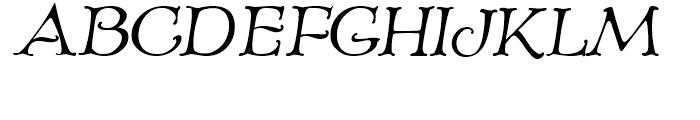 Old Paris Nouveau Italic Font UPPERCASE