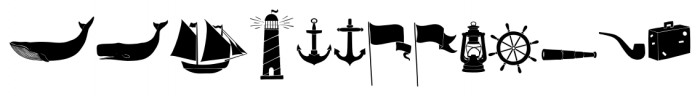 Old Harbour Dingbats Font UPPERCASE
