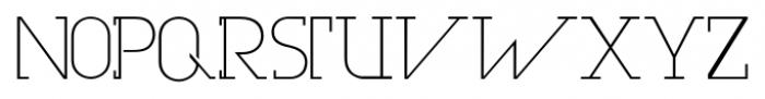 Olim Futura Light Font UPPERCASE