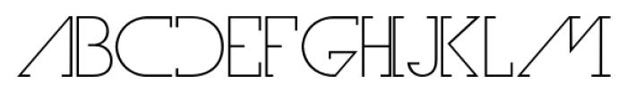Olim Futura Light Font LOWERCASE