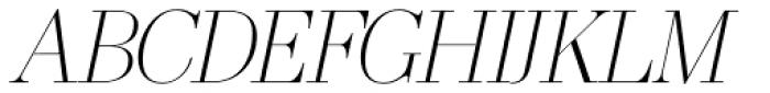 OL America The Beautiful Light Italic Font UPPERCASE