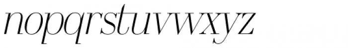 OL America The Beautiful Light Italic Font LOWERCASE