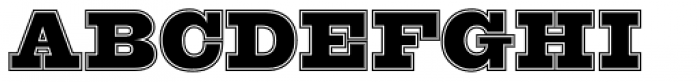 OL Egiziano Comstock Font UPPERCASE