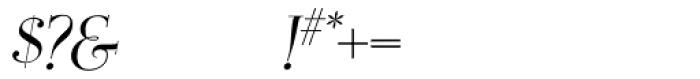OL Egmont Medium Italic Font OTHER CHARS