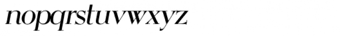 OL Egmont Medium Italic Font LOWERCASE