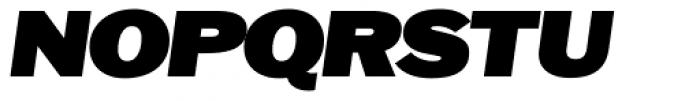 OL Franklin ExtraBold Italic Font UPPERCASE
