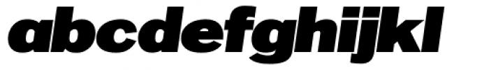 OL Franklin ExtraBold Italic Font LOWERCASE