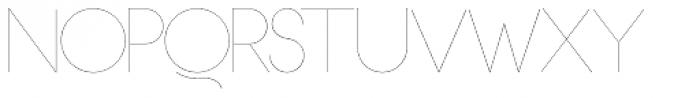 OL Hairline Gothic B Font UPPERCASE