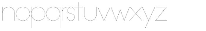 OL Hairline Gothic B Font LOWERCASE