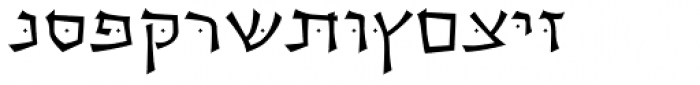 OL Hebrew Cursive Bold Font UPPERCASE