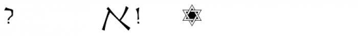 OL Hebrew Cursive Light Font OTHER CHARS