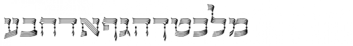 OL Hebrew David Deco Linear Font LOWERCASE
