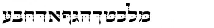 OL Hebrew David Font UPPERCASE