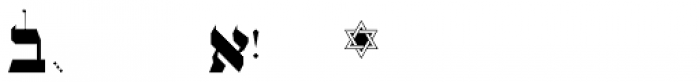 OL Hebrew Formal Script With Tagin Font OTHER CHARS