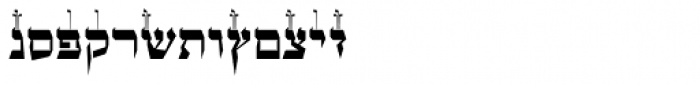 OL Hebrew Formal Script With Tagin Font LOWERCASE