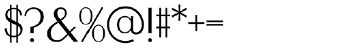 OL Radiant Light Font OTHER CHARS