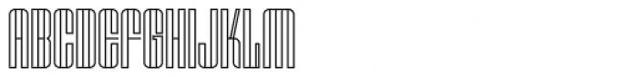 OL Skeleton Gothic Outline Font UPPERCASE