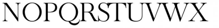 Old Baskerville TS Light Font UPPERCASE