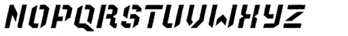 Old Depot Texture Italic Font LOWERCASE