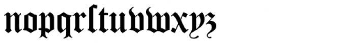 Old English D Font LOWERCASE