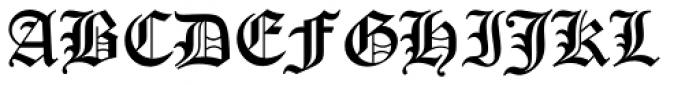 Old English Std (LET) Font UPPERCASE