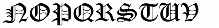 Old English Text Std Font UPPERCASE