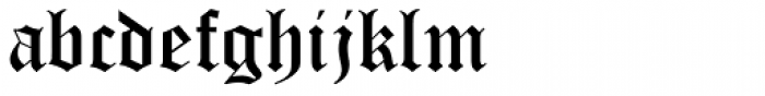 Old English Text Std Font LOWERCASE