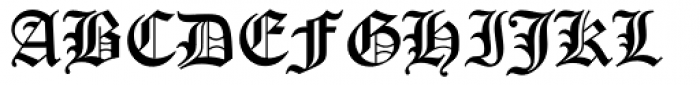 Old English Font UPPERCASE