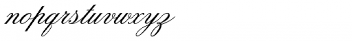 Old Fashion Script Flourishes Font LOWERCASE