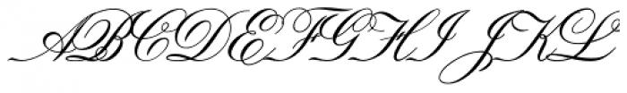 Old Fashion Script Std Font UPPERCASE