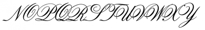 Old Fashion Script Font UPPERCASE