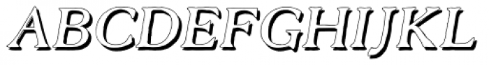 Old Forge Shadow Italic Font UPPERCASE