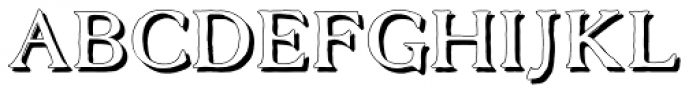 Old Forge shadow Font UPPERCASE