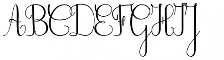 Old French School Regular Font UPPERCASE