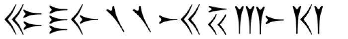 Old Persian Cuneiform Font UPPERCASE