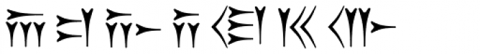 Old Persian Cuneiform Font LOWERCASE