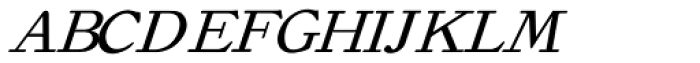 Old Roman Italic Font UPPERCASE