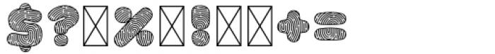 Old Stamp Violet Font OTHER CHARS