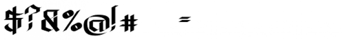 Olde Gangsta Black Font OTHER CHARS
