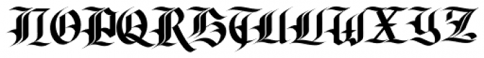 Olde Gangsta Black Font UPPERCASE