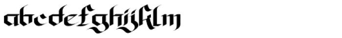 Olde Gangsta Black Font LOWERCASE