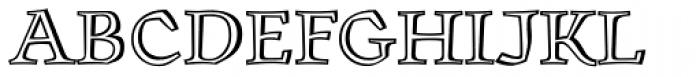 Oldrichium Engraved Font UPPERCASE