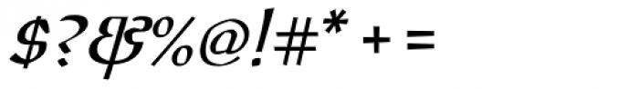 Oldrichium Italic Font OTHER CHARS