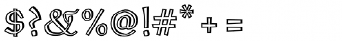 Oldrichium Pro Engraved Font OTHER CHARS
